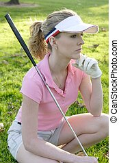 Waiting to tee off