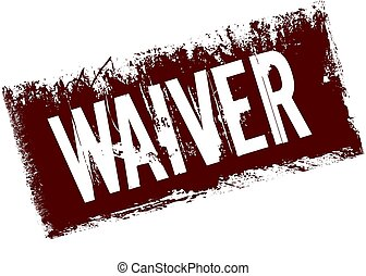 WAIVER on red retro distressed background.