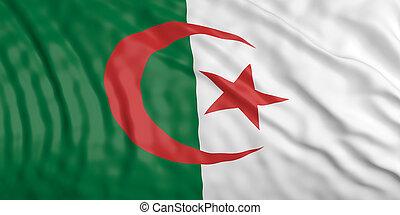 Waiving Algeria flag. 3d illustration