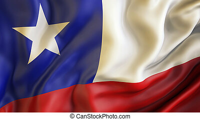 Waiving flag of Chile