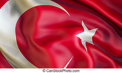 Waiving Flag of Turkey