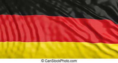 Waiving Germany flag. 3d illustration
