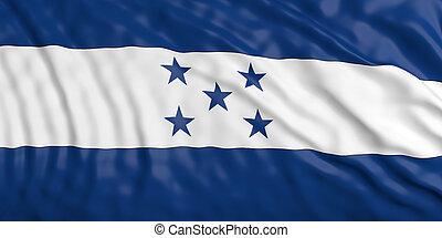Waiving Honduras flag. 3d illustration
