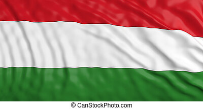 Waiving Hungary flag. 3d illustration