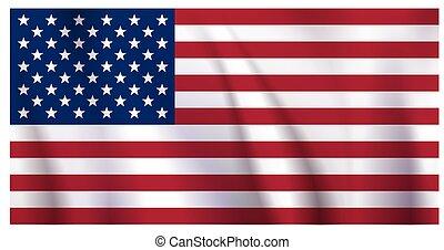 waiving US Flag
