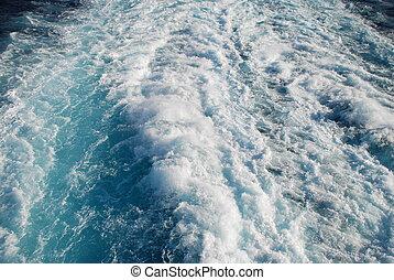 wake at sea