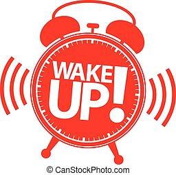 Wake up alarm clock icon, vector illustration