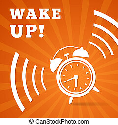 Wake up alarm vector illustration