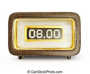 wake-up clock isolated on a white background