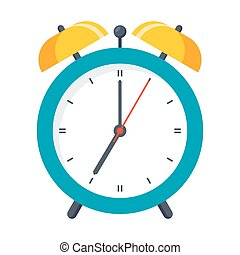 Wake Up Icon - Wake up icon with alarm clock on white ...