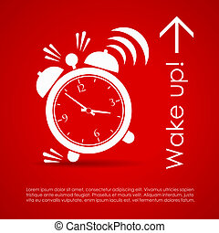 Wake up poster - Wake up vector poster