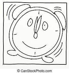 Wake Up - stylized comic book style humorist drawings