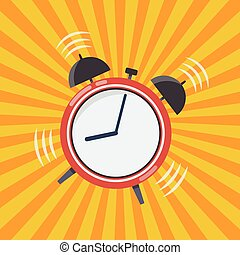 Wake up time. Alarm clock vector illustration