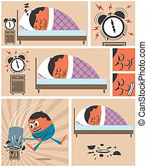 Wake Up - Short story about man having difficulty to wake up...