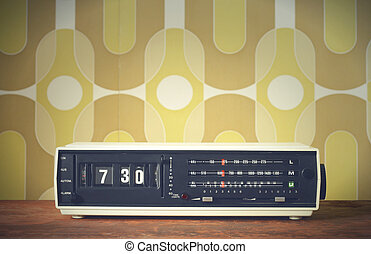 alarm clock radio  - Wake up! vintage alarm clock radio