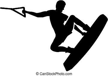 wakeboarding, salto