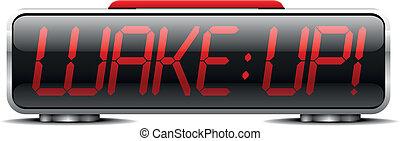 wakeup, 02, 時計, 警報