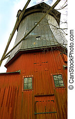 Waldemarsudde, Stockholm -close up of old linseed oil wooden mill
