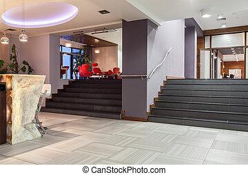 waldland, -, hotel, treppe