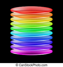 walec, barwny, abstrakcyjny