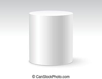 walec, kontener, tło, isolated., obiekt, projektować, szablon, biały, 3d