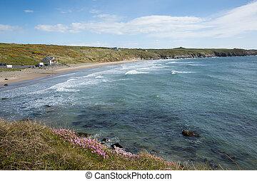 Wales coast Whitesands Bay beach