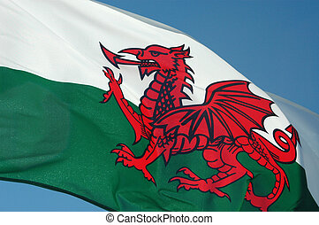 Wales Flag - Flying Wales Flag