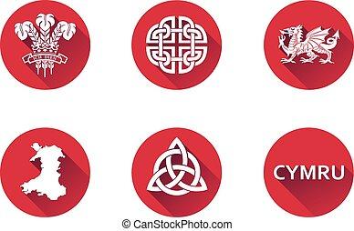 Wales Flat Icon Set 2