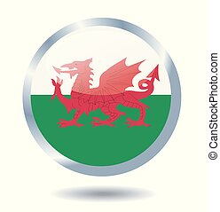 wales vlag, vector, illustratie