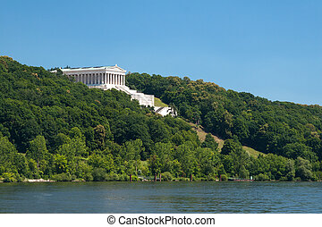 Walhalla at the river Donau near the city Regensburg in...