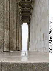 Walhalla memorial in Gerrmany - colonnade at the Walhalla...