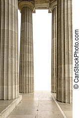 Walhalla memorial in Gerrmany - columns at the Walhalla...