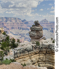 Walhalla Plateau & Vishnu Temple Formations in Grand Canyon...