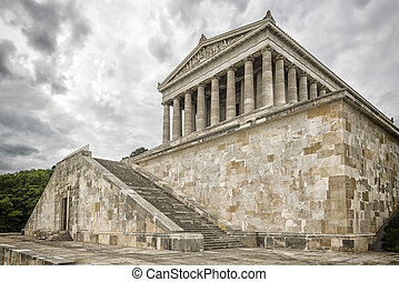 Walhalla Regensburg - Image of the Walhalla, Germany with...