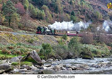 walisisch, eisenbahn, hochland