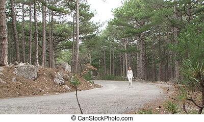 Walk along the road