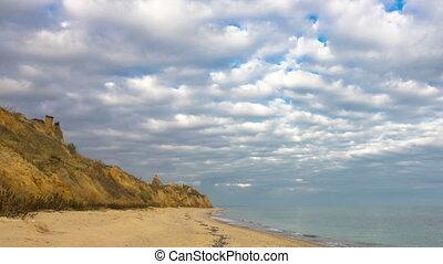 Walk Along the Rocky Shore of the Sea