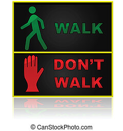 Walk and don't walk