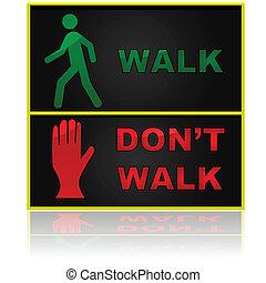 Walk and don't walk