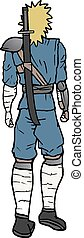 Walk back ninja