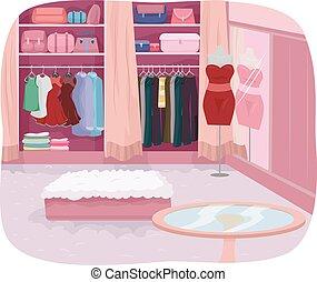 Walk In Closet Interior