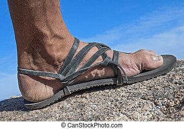 Walk in my sandals