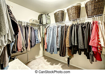 walk-in, placard, vêtements