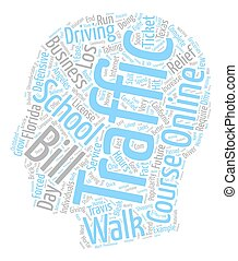 Walk In Traffic Schools A Bleak Future text background wordcloud concept