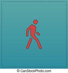 Walk Man computer symbol