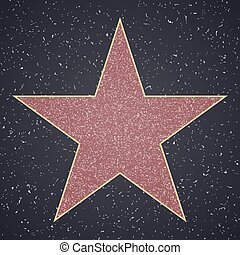 Walk Of Fame. star blank template