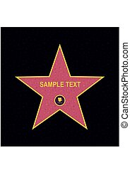 Walk of fame star on the granite floor. vector illustration