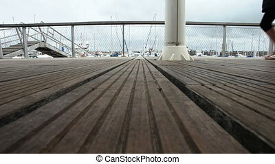 walk on the pontoon - Taken with a tripod
