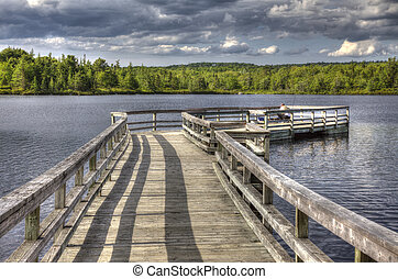 Walk the Pier into the Lake