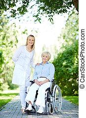 Walk with patient